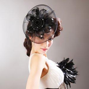 CHENLVXIE Kadınlar Için Vintage Net Gelin Şapkalar Düğün Şapkalar Düğün Headdresses Gelinler Fascinator Sinamay Düğün Birdcage