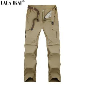 All'ingrosso-Uomini Quick Dry Pants Large Pant S-7XL Uomo Estate Outdoor Sport Trekking Pantaloni da trekking Pantaloni durevoli rimovibili HME0121-5 traspirante