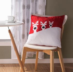 Nuovo design breve peluche cuscino di Natale copridivano federa quadrata federa decorazione ornamento decorazione per la casa regalo copridivano divano letto