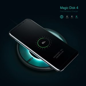 Magic Disk 4 Fast Charger Edition Cover Qi Wireless Charger for iPhone X 6 6s 7 8 Plus Samsung Galaxy S7 Edge S8 Plus Note 8