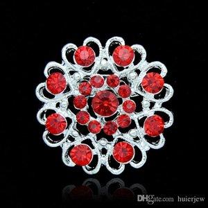 Broches de natal Moda Jóias 7 cores 'Lindamente Estilo Vintage Preto Strass Cristal Diamante Partido Broches Pinos para As Mulheres