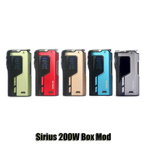 100% Original Perdido Vape Sirius 200 W TC Mod Box VW Perdervape 18650 Bateria Mod Para 510 Atomizador de Linha