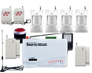 Doble antena! Wireless Home Burglar Security GSM Sistema de alarma Marcador automático SMS Llamada a SIM (batería incorporada) Detector de movimiento PIR 4x