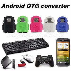 스마트 폰 OTG 어댑터의 USB 안드로이드 로봇 모양 도매 마이크로 USB, 마이크로 OTG 케이블, 마이크로 OTG 어댑터 1000PCS