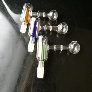 Прямой двойная фильтрация горшок Оптовое стекло кальян, стекло вода Фитинги, Бесплатная доставка