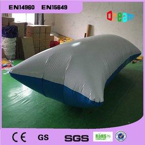Entrega a la puerta 6 * 2 m 0.9 mm PVC Water Catapult Blob inflable saltos de agua Air Tarampoline inflable saltos almohada y enviar una bomba