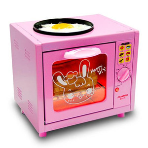 5L Rosa mini-forno elétrico carne frita na parte superior interna pão cozido frango pizza 220V 500W 003