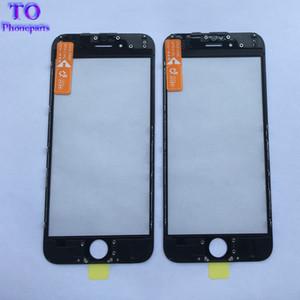 50PCS OME 3 in 1 vetro anteriore LCD Lente esterna + OCA pellicola adesiva per iphone 6 6s 7plus con cornice castone