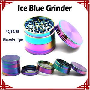[sp] 1 stücke Ice Blue Grinder Neue Farbe 50mm 4 Stücke Grinder Magnet Top Zink-legierung Material VS Sharpstone Grinder