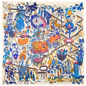 60 см * 60 см новая весна шарфы Франция волшебная ферма моделирования шелковое полотенце маленькая квадратная леди