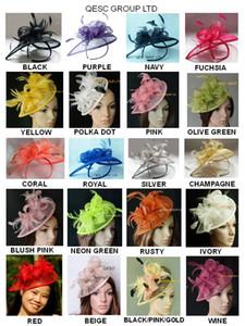 26 colours.Classic HOT sinamay fascinator Hut in der speziellen Form mit Federn für Kentucky Derby Hochzeit Partei Kirche