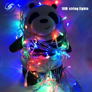 Luz de natal Venda de Férias Ao Ar Livre 10 m 100 LED string 8 Cores escolha Vermelho / verde / RGB Luzes De Fadas À Prova D 'Água Do Jardim Do Natal Do Partido luz
