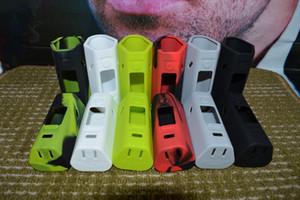 10 renkler Wismec Reuleaux RX2 / 3 silikon Kılıf 2 adet / kiti Wismec RX2 / 3 Wismec RX2 / 3 kapak cilt Için Silikon Çanta Mod