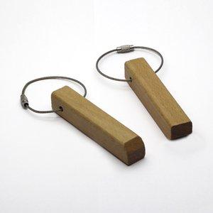 Portachiavi in legno di faggio bianco Portachiavi rettangolo Catena portachiavi personalizzato Portachiavi personalizzato # KW01CG TRASPORTO DI GOCCIA