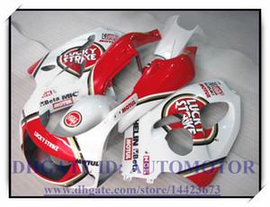 SUZUKI GSXR600 750 96 97 98 98 99 00 GSXR600 750 1996-2000 1997 1998 1999 gsxr750 kaporta kitleri için beyaz kırmızı kaportalar # 93k437