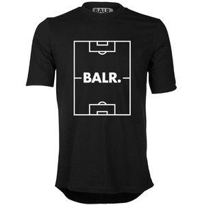 runder Rand Fußballplatz europäischen Code T-Shirt Balr männlich kurzärmelig Rundhalsausschnitt locker ordentlich Sommer neue Gezeiten Herrenbekleidung