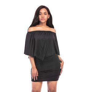 Оптовая армия зеленый Слэш шеи женщины мини-платье осень стиль с плеча сексуальные платья Vestidos черный белый пляж повседневная Dress GZQZ12 F
