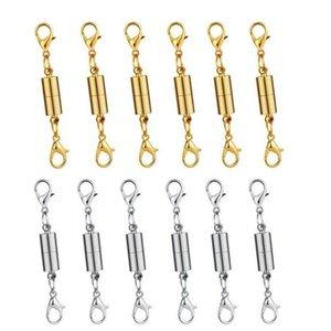 Новый серебряный / позолоченный магнитный Магнит ожерелье браслет застежки цилиндр формы застежки для ожерелье браслет ювелирных изделий DIY лучшее качество