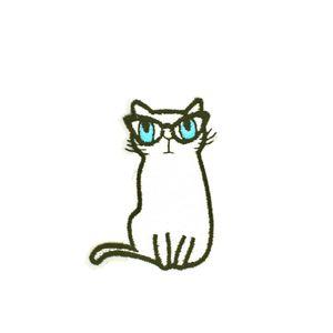 10 PCS Cat вышитые патчи для детей Одежда железа на передаче Аппликация Патч Сумки Джинс DIY пришить вышивки наклейки