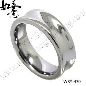 7mm hoher polnischer konkaver Wolfram-Hochzeitsband für Männer WRY-470
