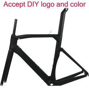 2021 Style Road Bike Carbon Frame akzeptiert DIY Farbe und Logo Made in China T1100 UD oder 1k Matt / Glossy Frameset 2 Jahre Garantie