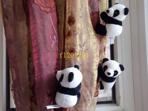 50pcs / lot Livraison gratuite Panda panda en peluche mini poupée animal en peluche 10cm doux rideau clip pour les enfants