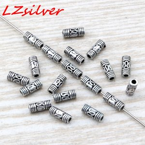 MIC 1000PCS Antique silver Zinc Alloy Bali Style Wire Curved Tube Spacer Bead 3x8mm DIY Jewelry D17
