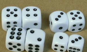 15mm 6 Sided Dice Black Point Ordinary Dices Children Educational Toy Casino Craps Drinking Game Accessories Party Playing Bosons #N30