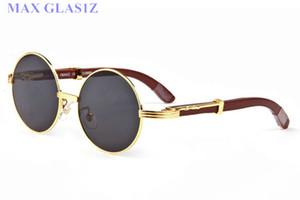 солнцезащитные очки мужчины женщины wrapeyeglasses круглые оттенки Марка солнцезащитное стекло дизайнер дерево полный кадр очки высокое качество UV400 с футлярами