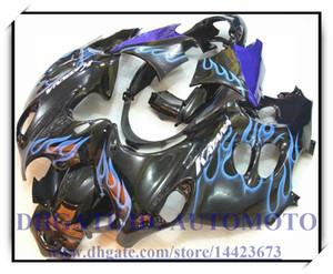 Получите подарочный набор для обтекателя abs на 100% подходящий для Suzuki GSX600F / 750F 2003-2006 2004 2005 Katana GSX 600F 03-06 Katana # AH836 BLACK BLUE FLAME