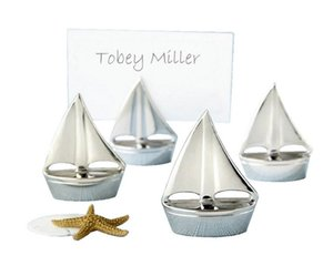Yeni Denizcilik Düğün Iyilik gümüş Yelkenli Yeri Kart Sahipleri için Koltuk Kart Sahibinin düğün gelin festivali parti Dekorasyon