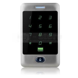 DIYSECUR Touch Button 125KHz Rfid Lecteur de carte Porte Access Controller Système Mot de passe Rétro-Éclairage Clavier Argent C30