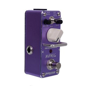 New AROMA AMC-3 MANIC High Gain Distortion Mini Analogue Effect True Bypass+Free Connector