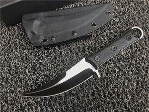 Top Quality fixo lâmina Machete D2 Titanium Lâmina CNC Preto G10 Handle Karambit Garra Faca Outdoor Camping Tactical Gear