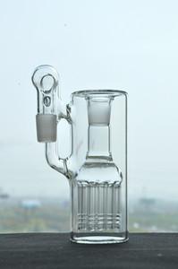 Véritable PIC en gros verre simple fritté simple Ashcatcher avec 12 bras arbre inline perc 18 mm à angle droit pour les bongs de verre d'eau