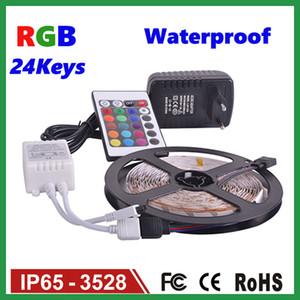 LED Strips 5M Set 3528SMD 60led LED Strip Light 24Keys IR Remote Controller مزود طاقة مزود أبيض / أحمر / RGB LED شرائط ضوء