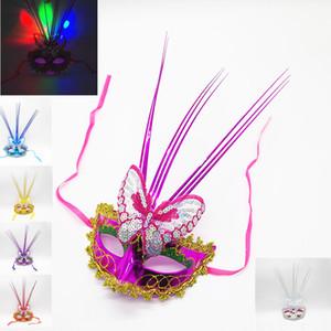 Hafif yağmur kelebek maskesi led ışık flaş ışığı lehim maskesi oyuncaklar toptan parti elbise sahne