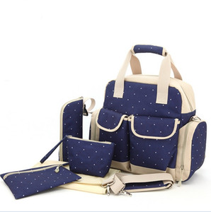 2pcs lot Top Grade 8 Color Diaper Mummy Mami Baby Diaper Bag Nursery Bag Mama Combination KB425
