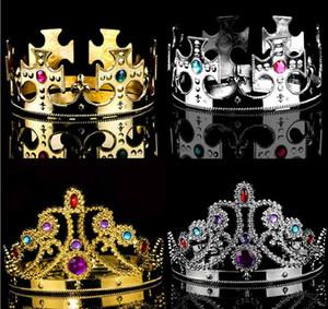 Party Cosplay Couronne Roi Reine Princesse Diamant Royal Couronne Enfants Adultes Couronne Chapeaux Halloween Chapeau De Performance De Noël