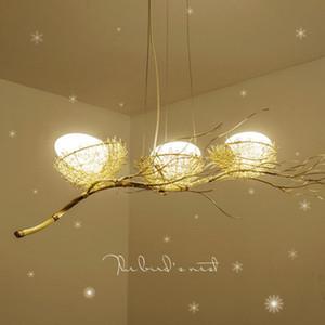Hand-woven creative personality nest chandelier Restaurant light Nordic creative art chandelier dining room postmodern bird's nest chandeli