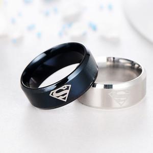 Alta qualidade titanium man superman anel de jóias por atacado anéis de titânio para homens e mulheres