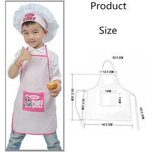 1 Set Polyester Enfants Et Chapeau Chef Enfant Cuisine Bébé Chef Junior Tablier De Cuisine Tablier Peinture Tablier Famille Fournitures