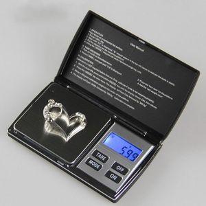 Hohe Genauigkeit Mini LCD Elektronische Digital Pocket Scale Schmuck Gold Diamant Gewicht Skala Gramm Gewicht Waagen 1000g / 0,1g mit Box