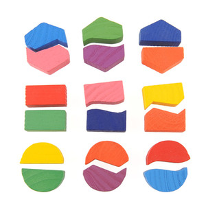 Wooden Math Geometry Puzzle Montessori Intellective Educational Preschool Toy Child Kids Baby Game