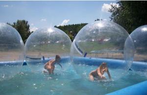 PVC-Material aufblasbare Wasser Blase Große aufblasbare Wasser zu Fuß Bälle Wasser-Spaß-Pool-Spielzeug aufblasbare Tanzen Reißverschluss Ball