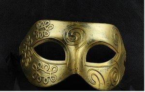 Herren retro Greco-Roman Gladiator Maskerade Masken Vintage Golden / Silber Maske Silber Karneval Maske Mens Halloween Kostüm Party Maske
