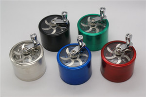 Tabak grinder 55mm 63mm 4layers Zicn Legierung Handkurbel Tabak Grinder Metall Grinder für Kräuter