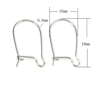 10 pares / lote 925 Sterling Silver Clasps Ganchos Resultados Da Jóia Componentes Para DIY Artesanato Presente Da Jóia Wp178 * Frete Grátis