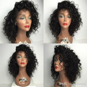 Parrucca piena del merletto di Glueless di parte superiore di seta riccia libera Parte superiore di seta anteriore del merletto dei capelli umani peruviani con l'attaccatura dei capelli naturale