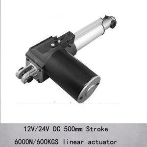 """Actuadores lineales de capacidad máxima de carga de carrera de 20 """"/ 500 mm 6000n / 600kgs con velocidad de 5 mm / sy dc 12v / 24v"""